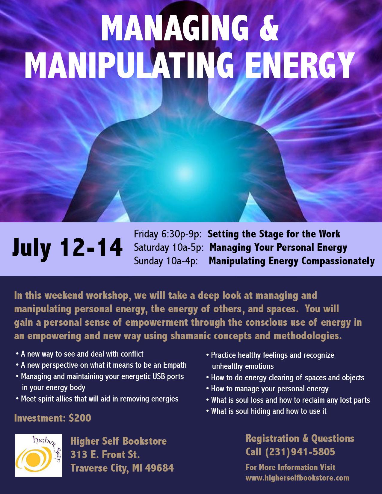 Managing & Manipulating Shamanic Energy